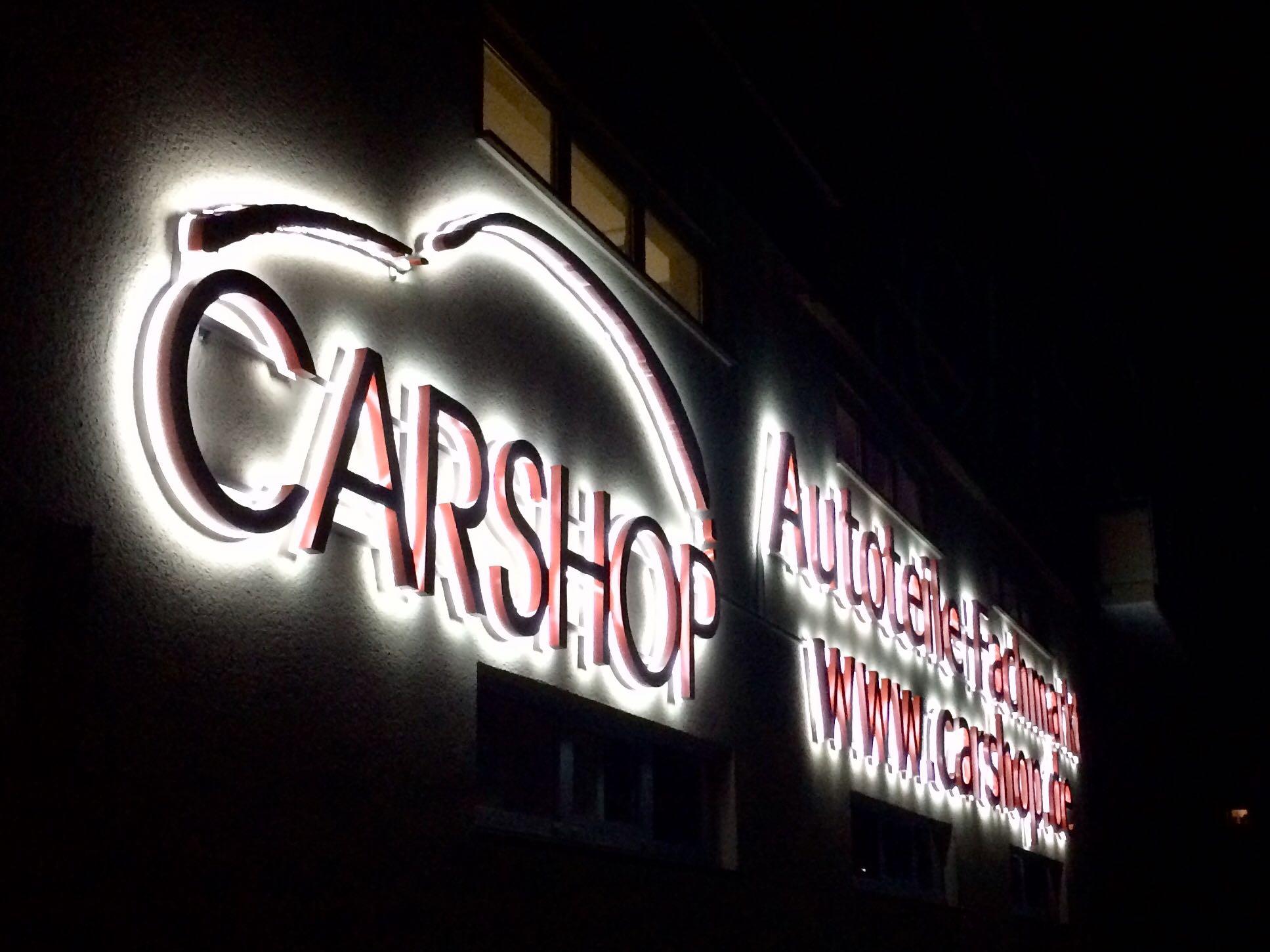 Carshop Außenwerbung 2